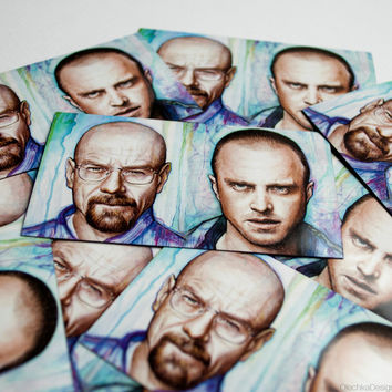 Breaking Bad MAGNET, Walter White and Jess Pinkman, Art on Magnet