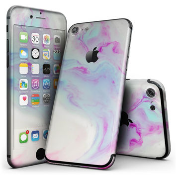 Marbleized Paradise V072 - 4-Piece Skin Kit for the iPhone 7 or 7 Plus