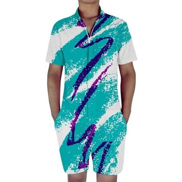 Paper Cup Solo Cup Rompers For Men 90s Jazz Solo All Over Print