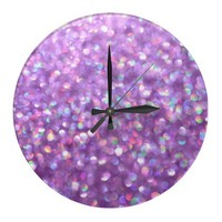 La La Lavender Wallclock from Zazzle.com