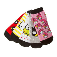 Hello Kitty 40th Anniversary No Show Socks Set of 5