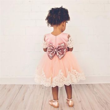 Newborn Baby Girl 1 Year Birthday Outfit Pleated lace dress Baby Baptism Dresses For Girl Infant Party Dress Tulle Kids Vestido