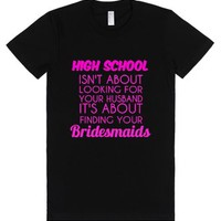 Bridesmaids-Female Black T-Shirt