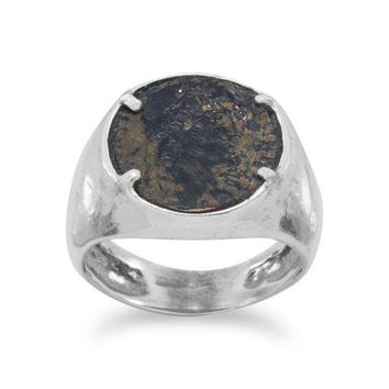 Hunter Ancient Roman Coin Ring