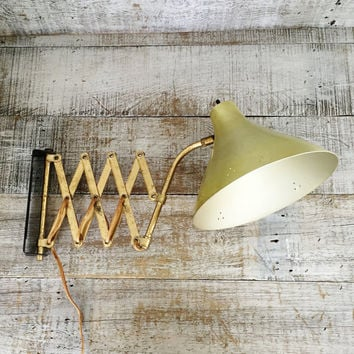 Accordion Wall Lamp Industrial Scissor Lamp Wall Mount Scissor Arm Extendable Lamp Swing Arm Light Vintage Swivel Light Mid Century Lighting