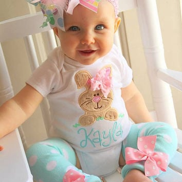 Girls Pastel Easter Bunny Outfit