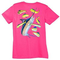 Misses Guy Harvey Marlin Dorado T-Shirt