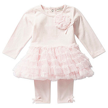 Starting Out Treasures Newborn-6 Months Long-Sleeve Tutu Dress & Leggi