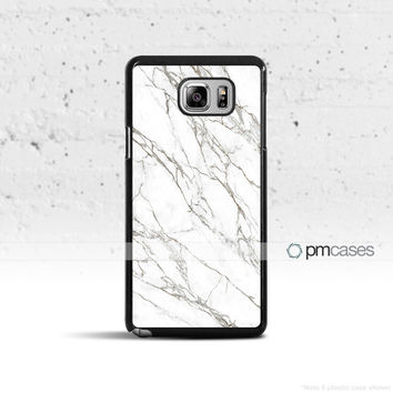 Black & White Marble Case Cover for Samsung Galaxy S5 S6 S7 S8 Plus Edge Active Note 4 5 7
