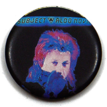 Vintage 80s Aldo Nova Subject Pinback Button Pin Badge