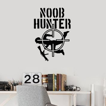 Vinyl Wall Decal Noob Hunter Gamer Room Video Games Shooting Stickers Mural (ig5484)