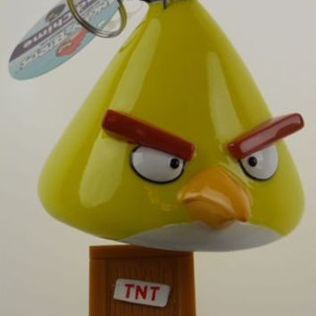 Angry Birds Wind Chime Yellow Crystal TNT Lock Rovio Chuck Speedy Patio Decor