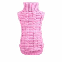 Quality First Winter Pets Dogs Cats Clothes Woolen Sweater Knitwear Clothes For Dogs Cats Hemp Flowers High Collar Coat 2XL
