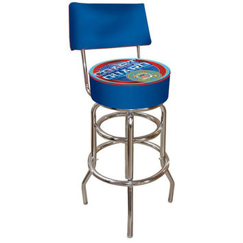 United States Coast Guard Padded Bar Stool with Back