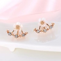 Cherry Blossom Arrangement Cuff Earrings (in Gold, Rose Gold, & Silver)