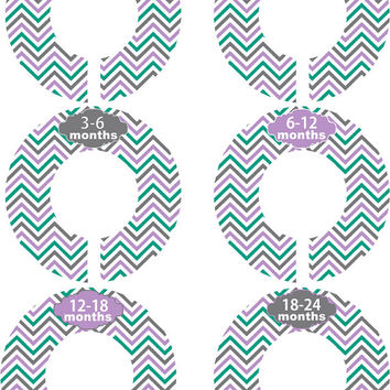 Custom Baby Closet Dividers Girl Boy Purple Teal Grey Chevron Nursery Closet Dividers Baby Shower Gift Baby Clothes Organizers Baby