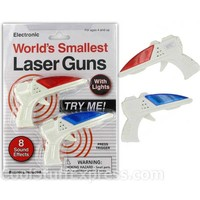 World's Smallest Laser Gun Fun Novelty Sci-Fi Toy, Fun & Unique Gifts