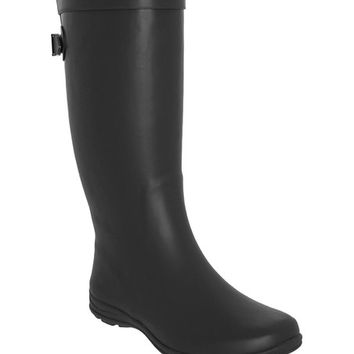 LA Gear Black Matte Preppy Rain Boot | zulily