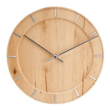 Karlsson Natural Wood Wall Clock