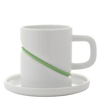 Porcelain Rubber Band Cup And Saucer