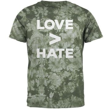 ICIK8UT Activist Love is Greater Than Hate Mens T Shirt