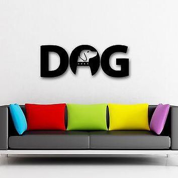 Wall Stickers Vinyl Decal Dog Lettering Animal Nice Decor Living Room Unique Gift (ig293)