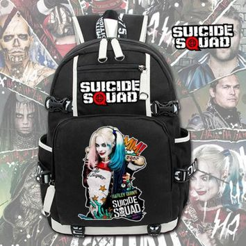 Suicide Squad Backpack Joker Harley Quinn Leisure Daily Backpack Student School Bag Travel Knapsack Notebook Backpack Packsack