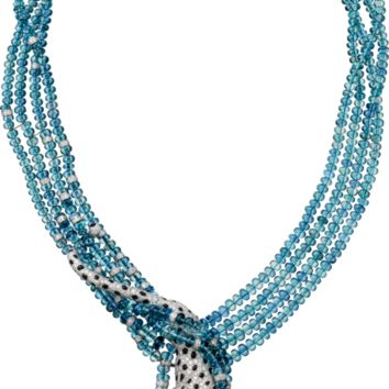 Panthère de Cartier High Jewelry necklace: Necklace - platinum, two pear-shaped aquamarines totaling 35.21 carats, two briolette-cut aquamarines totaling 15.72 carats