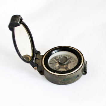 Original WWII Military Wrist Compass / RAF Survival Compass