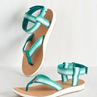 On the Right Trek Sandal in Lagoon | Mod Retro Vintage Sandals | ModCloth.com