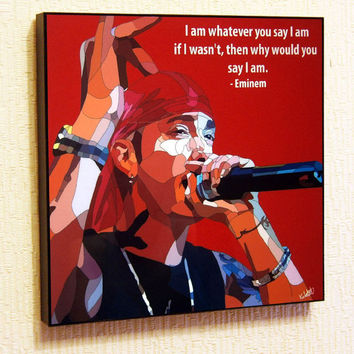 Eminem Pop Art Home Decor Wall Art Print
