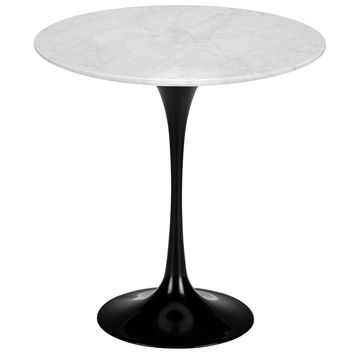 Daisy 20, Marble Side Table in Black Base