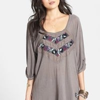Free People 'She Needs to Roam' Embroidered High/Low Top | Nordstrom