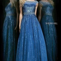 Sherri Hill Floor Length Sequin Dress