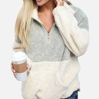 Soft and Cozy Sherpa Pullover Jacket
