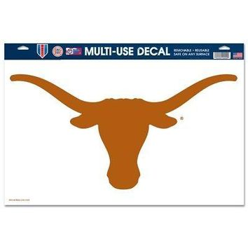 """Licensed Texas Longhorns Official NCAA 11""""x17"""" MultiUse Car Decal by Wincraft 663542 KO_19_1"""