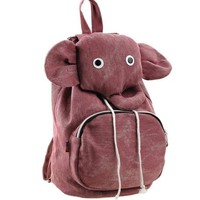 ZLCY Super Cute Canvas Elephant Backpack (Pink)