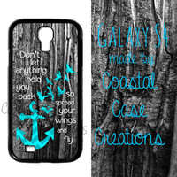 Anchor and Quote Samsung Galaxy S4  2 Piece Durable Cell Phone Case Cover Original Design