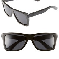 Men's Woodzee 'Trinity' 56mm Polarized Sunglasses - Bamboo Black/ Black