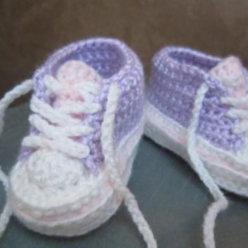 Custom Made to Order Crocheted Baby Converse Chuck by SweetKeeps