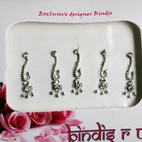 Spiral Curved Bindis - The Premium Bindi Collections.