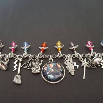 Harry Potter inspired charm bracelet