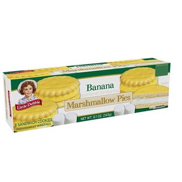 Little Debbie Snacks Banana Flavored Marshmallow Pies, 8ct - Walmart.com