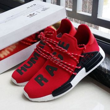 """""""Adidas"""" NMD Human Race Black Leisure Running Sports Shoes red"""