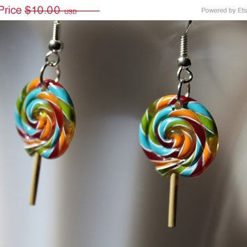 15 Off Summer Sale Sweet Lollipop Earrings by PenelopesPorch