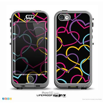 The Colorful Vector Hearts Skin for the iPhone 5c nüüd LifeProof Case