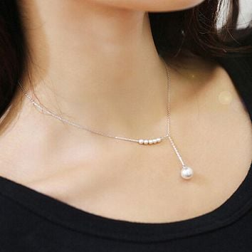 N626 Collares Imitation Pearl Statement Necklaces Pendants For Women Collier Jewelry Colar Kolye New Sailor Moon Aliexpress