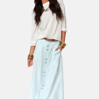 Blank NYC The Sweeper Light Blue Maxi Skirt