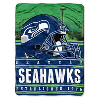 Seattle Seahawks NFL Silk Touch Throw (Stacked Series) (60inx80in)