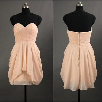 2013 Simple Chiffon Short Prom Dress
